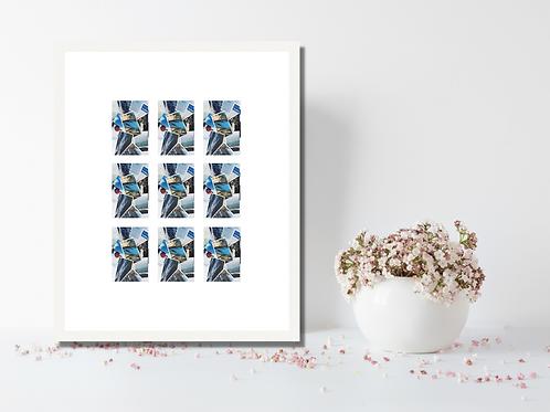 2x3 Inch Zink Paper 9 Photo Multi Aperture Photo Frame