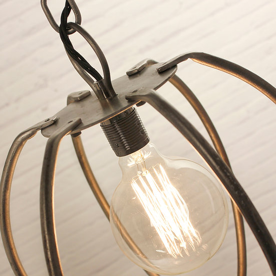 Hand Crafted Wrought Iron Globe Ceiling Light
