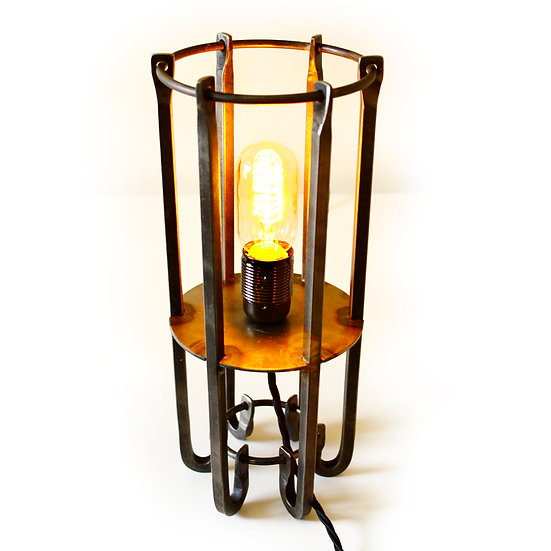 Stunning Hand Crafted Wrought Iron Table Light