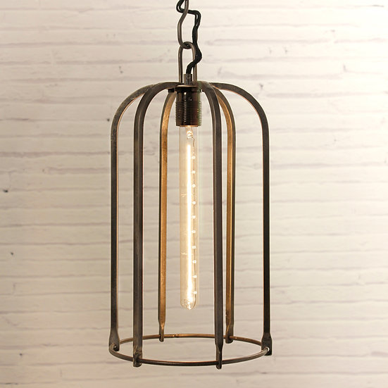 Hand Crafted Wrought Iron Tube Ceiling Light
