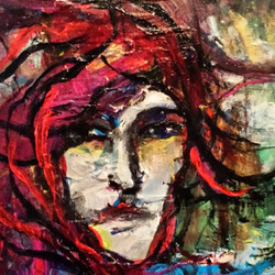 red women 40x50 cm 2015