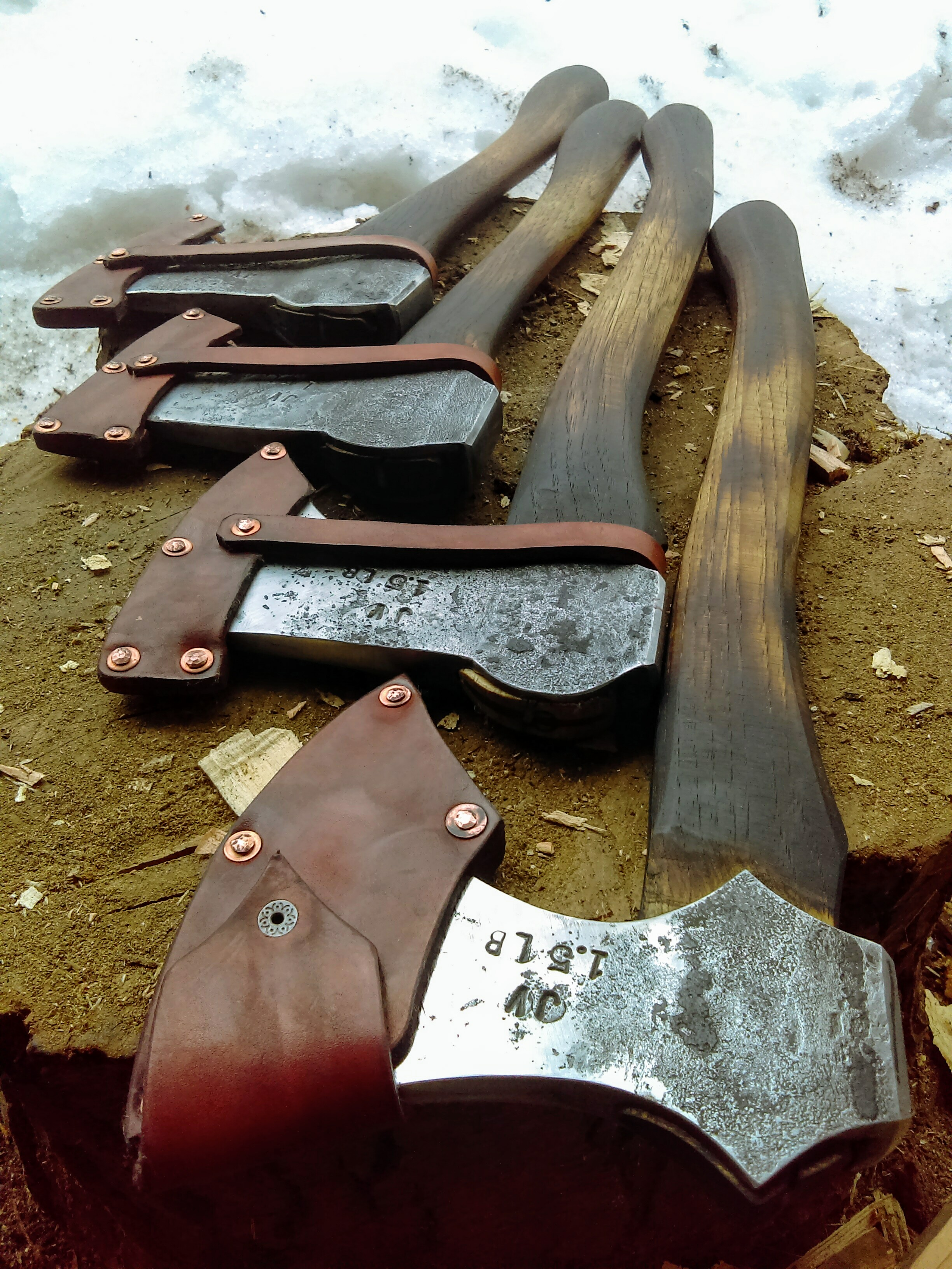 sheaths with copper rivets