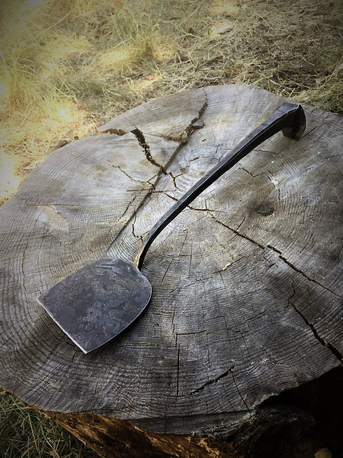 Spatula forged from a railroad spike