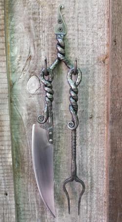 rebar knife and fork set