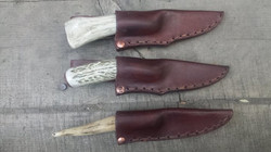 208 layer 1095 and 15n20 damascus, antler, and leather.jpg_6-7_ overall lengths.jpg_Trying to make a