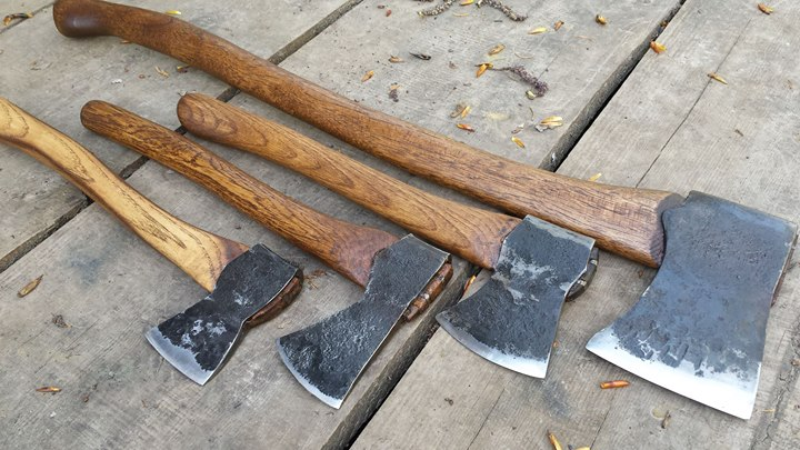 Ranging from a 4lb axe to 1lb hatchet