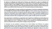 Préavis de grève national de l'ensemble des composantes de l'Anesthésie Réanimation.