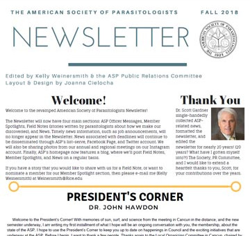 ASP's 2018 Newsletter is Now Available