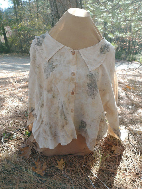 Cute Up Cycled Flax Blouse