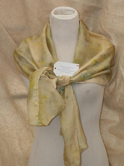 Botanically Printed Silk Scarf