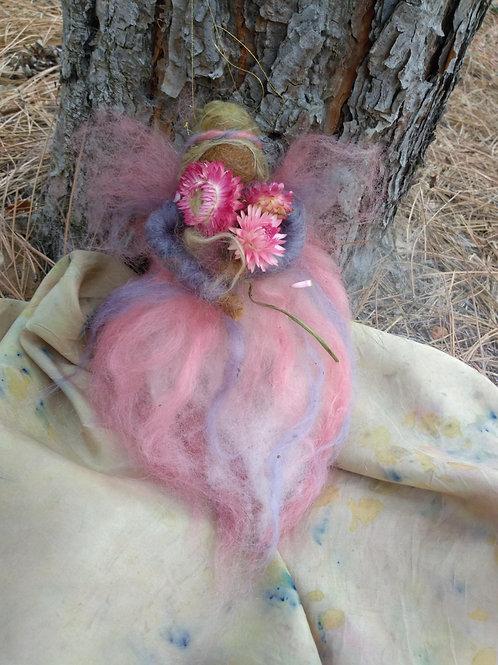 Straw Flower Fleece Angel