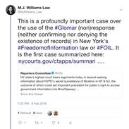 2018 02 06 Glomar tweet