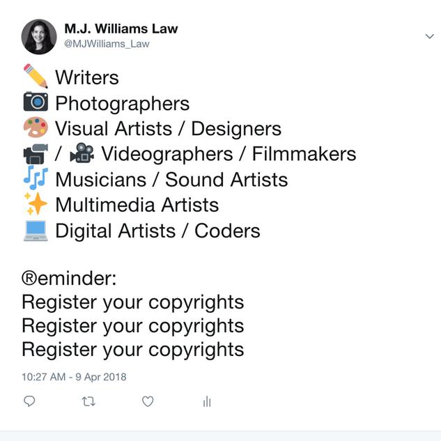 2018 04 09 Copyright tweet
