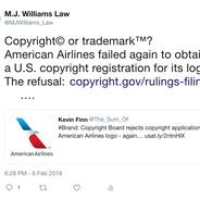 2018 02 06 Copyright or Trademark tweet