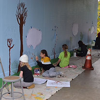 Mural project at a bay areaschool