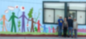 Luther Burbank Community Building Mural