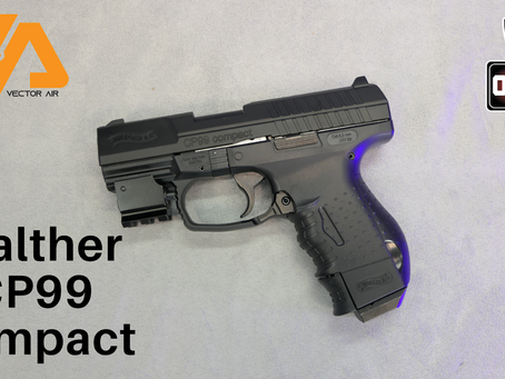 The Walther CP99 Compact blowback pistol