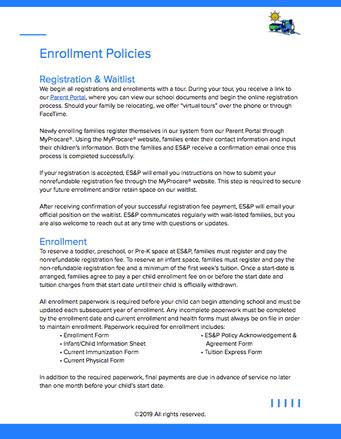 Enrollment Policies