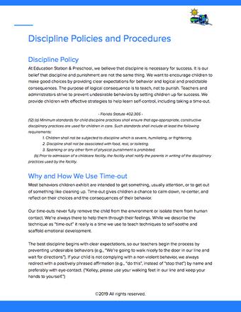 Discipline Policy