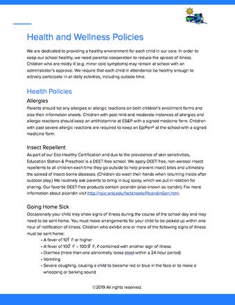 Health & Wellness Policies