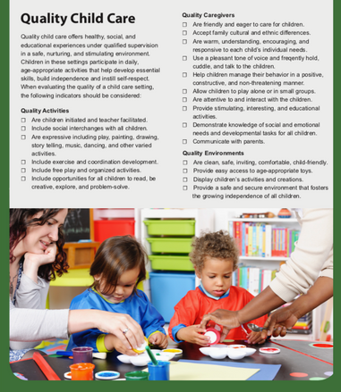 Know Your Child Care Facilty Brochure