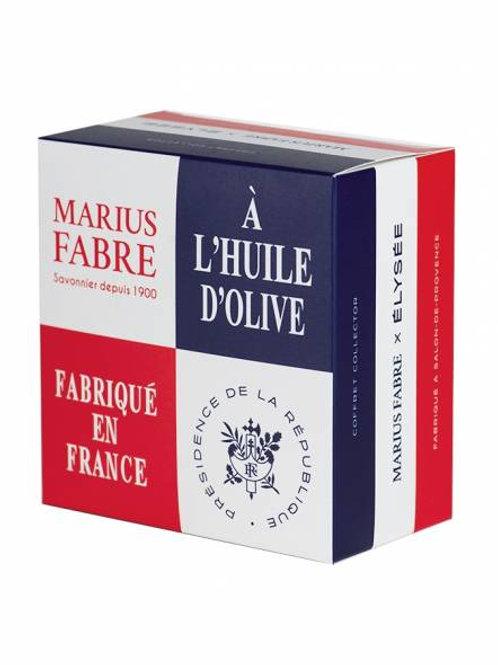 Marius Fabre x Elysée - Box of 4 Marseille Soaps in olive oil 200g