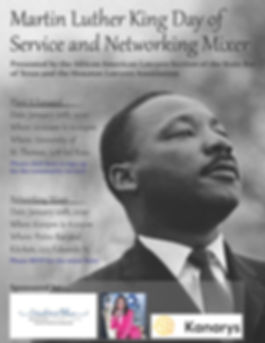 MLK Day of Service and Networking Mixer.