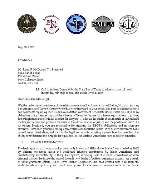 Letter to the Board of the State Bar of