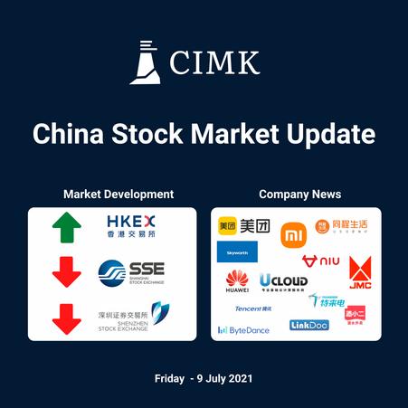 China Stock Market Summary (2021-07-09) by CIMK