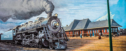 Painting-of-Paducah-Train-Station-on-Flo