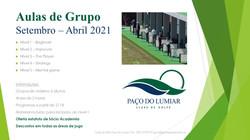 Cartaz Aulas de Grupo 2020