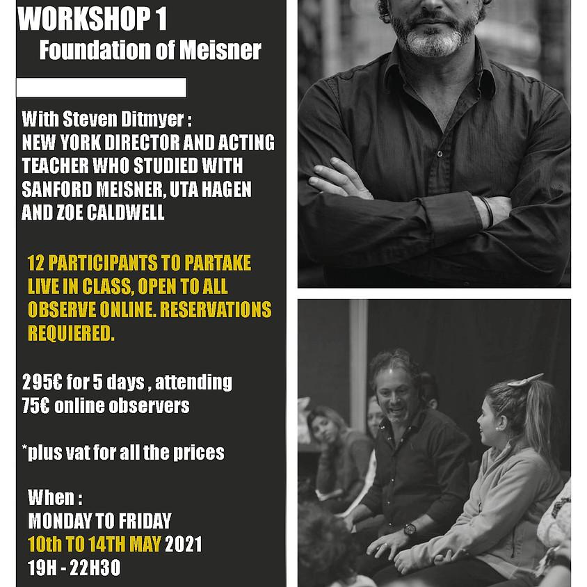 5 day intensive workshop Meisner Fundation