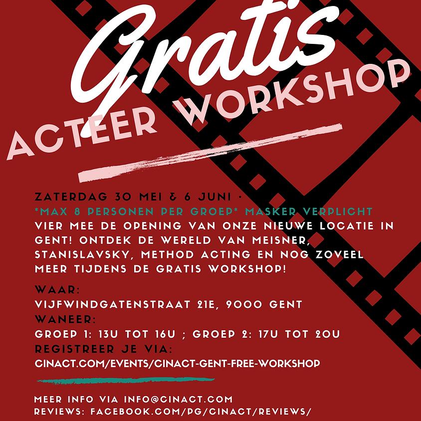 Cinact Gent Free Workshop 6 Juni