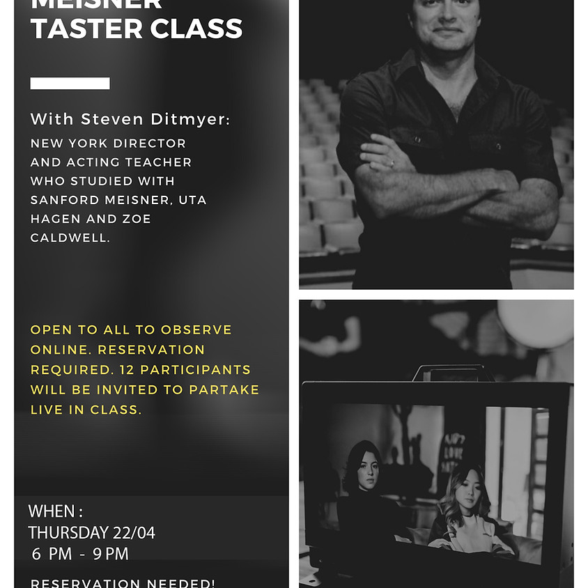 FREE MEISNER TASTER CLASS