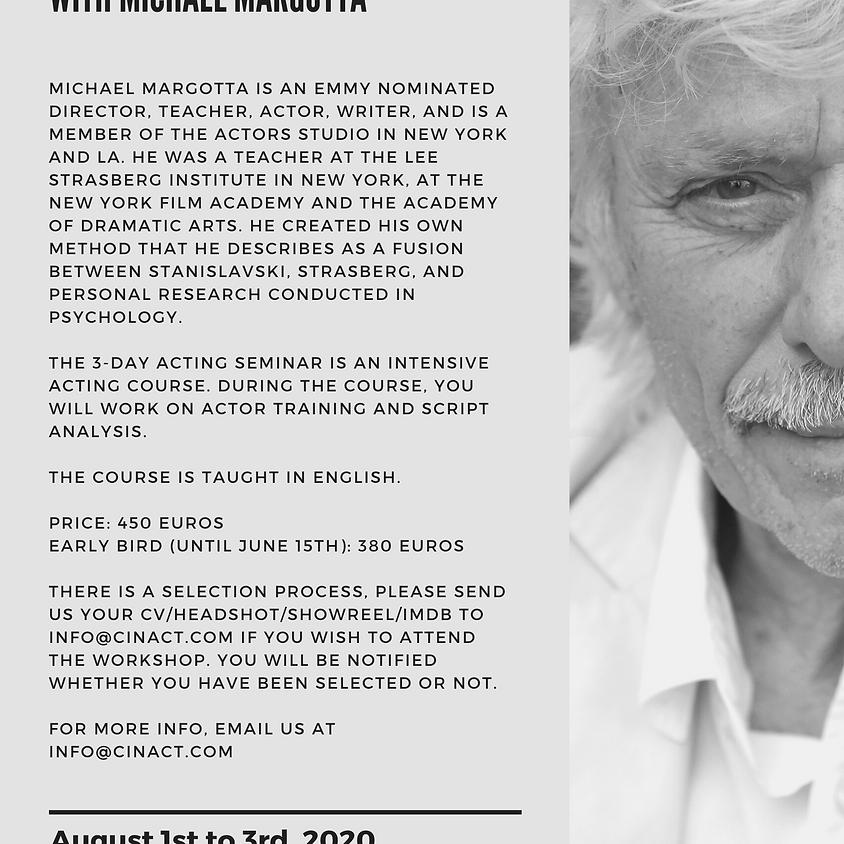 Actor Training & Script analysis With Michael Margotta