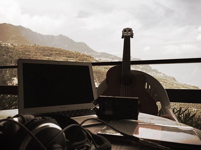 My recording studio for the next week #composing #newtracks #away #natureandwater