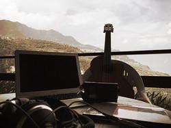 My recording studio for the next week #composing #newtracks #away #natureandwater