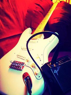 Love to walk around and play guitar