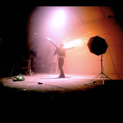 Me in Sparks ⚡️💥🎶_About last night 🌌🎬 Pic from Backstage 🌠💥🎥 on set in Studio Quantica for ne