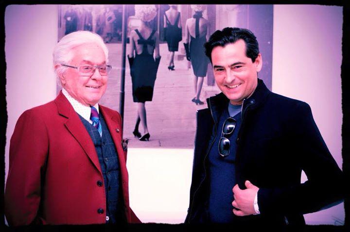 Con il maestro Roberto Capucci _Capucci collection FW 2015 __Show-room open day