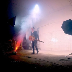 About last night 🌌🎬 Pic from Backstage 🌠💥🎥 on set in Studio Quantica for new single Kiss Life V