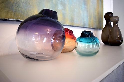 Tris di Vasi in Vetro Soffiato