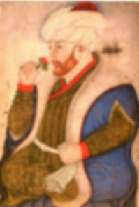 II._Mehmed'i_gül_koklarken_tasvir_eden_m