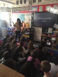Radhika Hira teaching the Revolutionary War