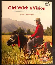 Girl With A Vision Text Cover