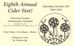 Eight Annual Cider Fest!
