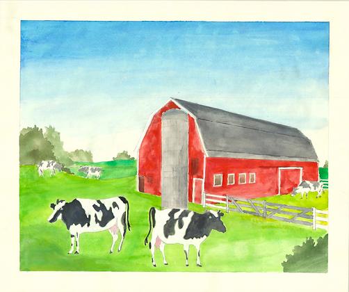 Barns & Cows | PRINT
