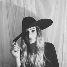 B&W Hat Lady