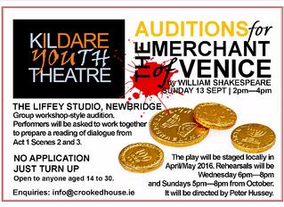 Auditions: Merchant of Venice