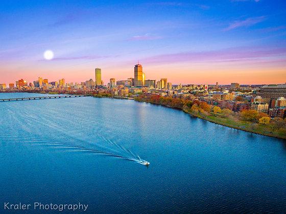 Boston Massachusetts Supermoon